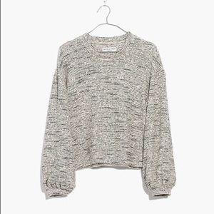 Madewell Texture & Thread Bubble-Sleeve Top